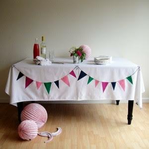 DIY Bunting Tablecloth