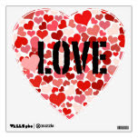 Large Heart Wall Decal with Love