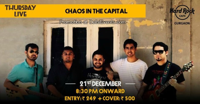 Chaos Capital band Hard Rock Cafe Gurugram Creative