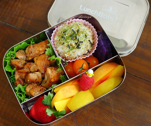 Balsamic Vinegar Sesame Chicken Lunchbots Bento by sherimiya ♥