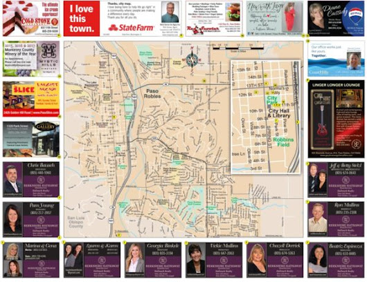 Advertise on new Paso Robles Area Map -