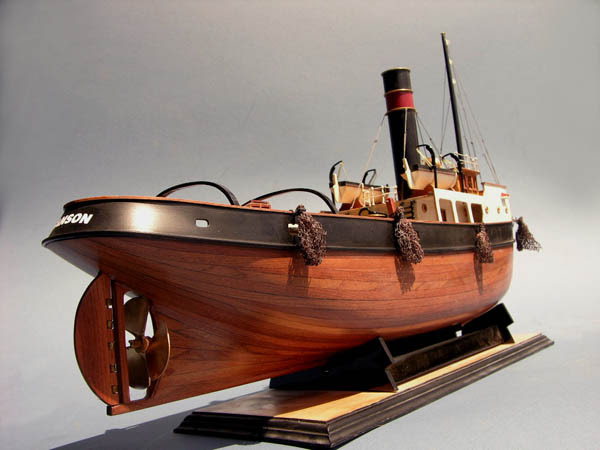 designed and built in 1915 for ocean travel the sanson wooden tugboat