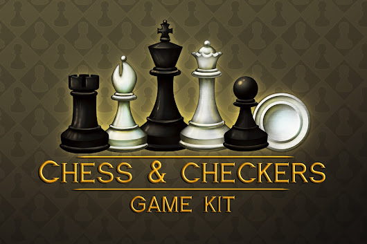 Chess and Checkers Game Kit - CraftPix.net