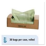 64 Gallon Green Compost Bags, 48x60, 0.85mil, 30 Bags (STOE4860E85)