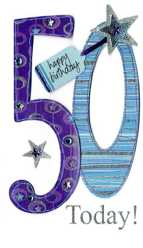 Gorgeous 50th Age 50 Birthday Greeting Card   Cards   Love