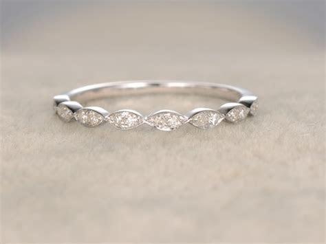 Diamond Wedding Rings For Her 14k White Gold Antique Art