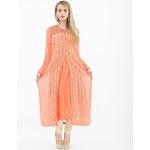 Peach Long Kurti with Churidar | Saris and Things Buy / 1X (52) / Peach