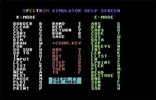 Emulador spectrum para Commodore (1)