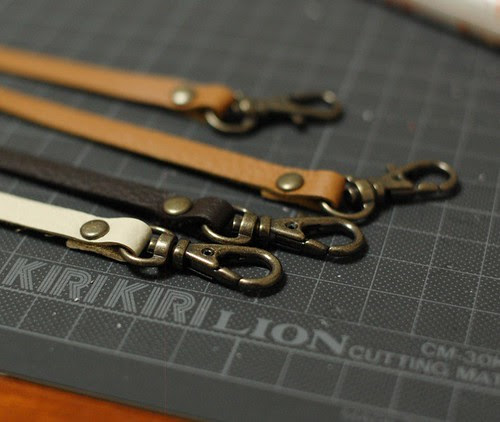 Making leather straps 4