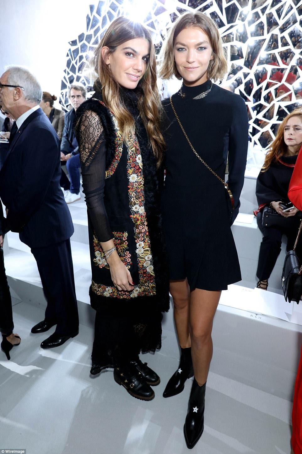 Camera ready:Bianca Brandolini d'Adda (L) and Arizona Muse posed together at the event