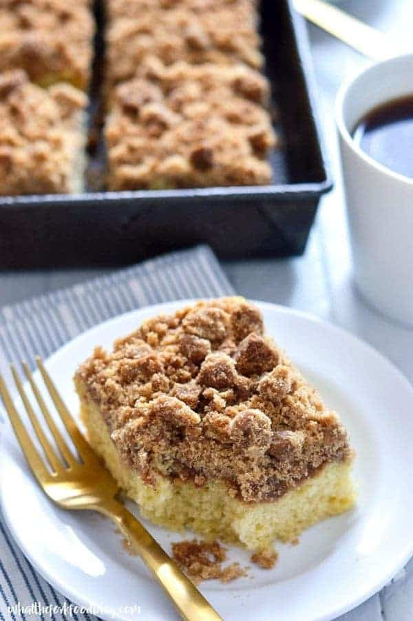 Gluten Free Cinnamon Coffee Cake - What the Fork