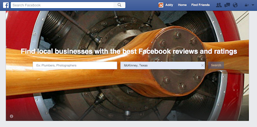 Will Facebook Services Take Over Local Search?