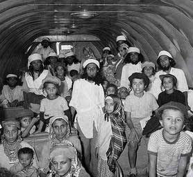 L'Operazione Tappeto Volante, che condusse migliaia di ebrei yemeniti in Israele.