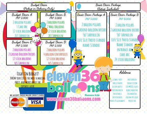 Party Decoration Packages   Eleven36 Party & Events Cebu