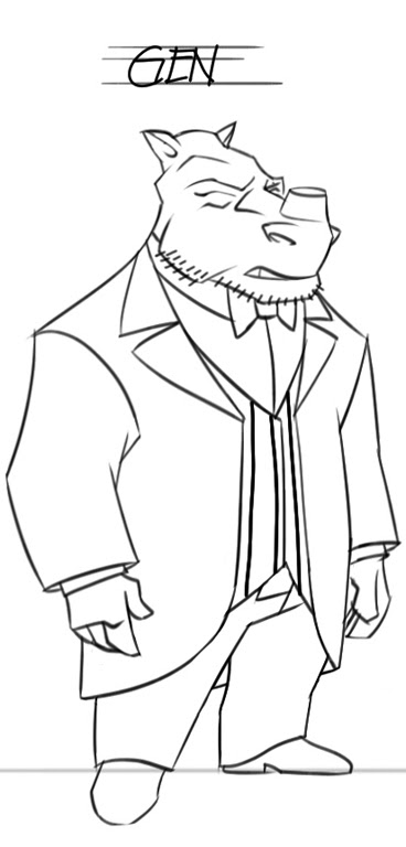 "TMNT: Back to the Sewer :: ""Murakami Gennosuke"" [ GEN ]  in TUX "" design Peek   [[ Courtesy of Stan Sakai ]]"