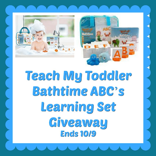 Bath Time ABC's Learning Set Giveaway! ~ Freebies Deals & Steals