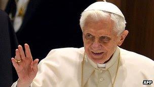 Pope Benedict on 6 February 2013