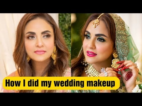 Nadia Khan did her own make-up on her wedding?