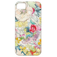 Neon Watercolor Flower iPhone Case iPhone 5 Cases