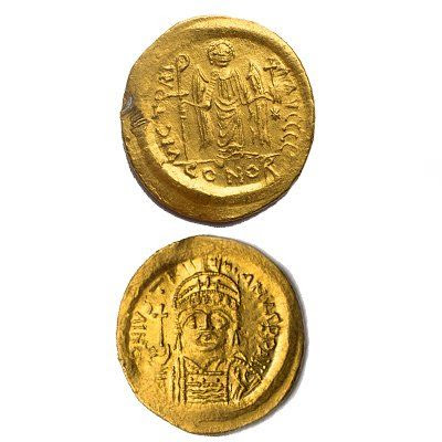Gold Maurice Coin (Byzantine) - Zakaria Antiquities