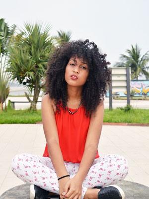 Fotos com mulheres negras foram feitas em Santos (Foto: Nayla Souza Ribeiro/Arquivo Pessoal)
