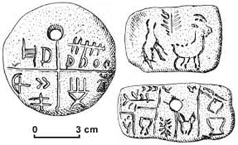 A sketch showing the symbols on the Tartaria Tablets