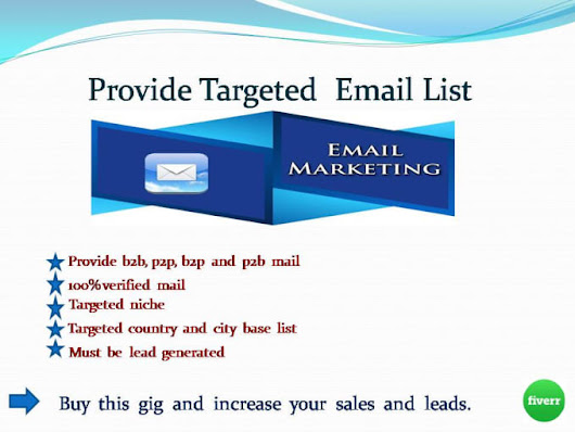 subasroy : I will collect your targeted email lists for $25 on www.fiverr.com
