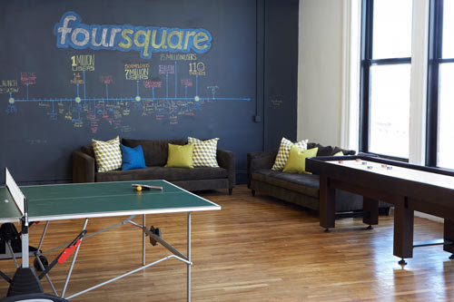 Foursquare Checks Into New Digs in Soho - Design Milk