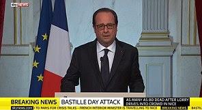 O presidente francês, François Hollande, disse que era inegável que o ataque de ontem à noite foi uma atrocidade terrorista