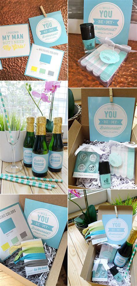 DIY Wedding Gift Ideas: Will You Be My Bridesmaid
