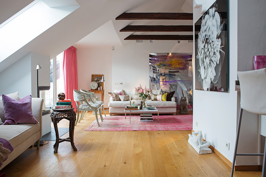 Airy And Eclectic Stockholm Attic Apartment   DigsDigs