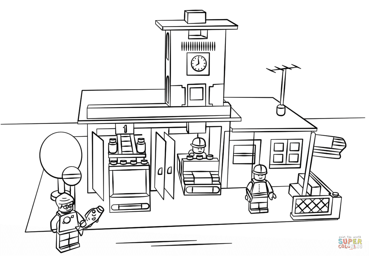 Lego City Printable Coloring Pages - Coloring Home