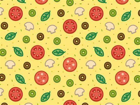 Pizza Pattern by Gustavo Zambelli   Dribbble