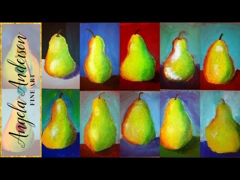 Pear Acrylic Paintings - Kids Art Class