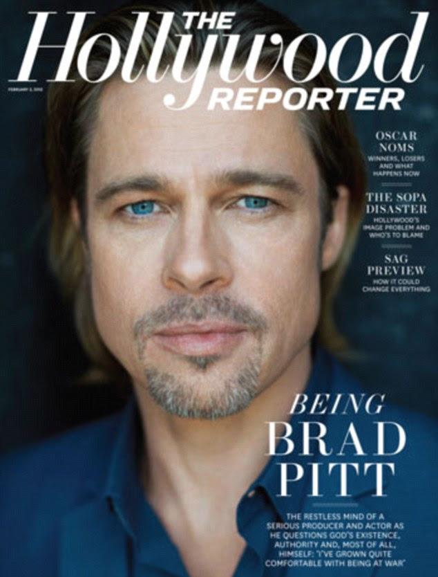 Olhos Mr Blue: Brad falou sobre seus planos em uma entrevista candid no Hollywood Reporter, para a qual ele posou na capa