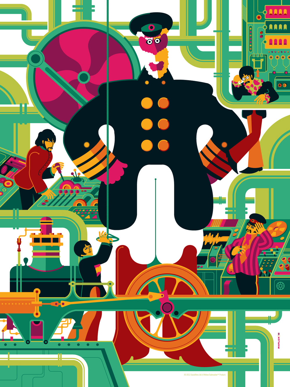 Tom Whalen S Definitive 5 Print Release Of The Beatles Yellow