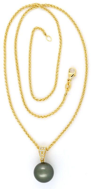 Originalfoto ORIGINAL TAHITI PERLEN BRILLIANTKOLLIER GOLD