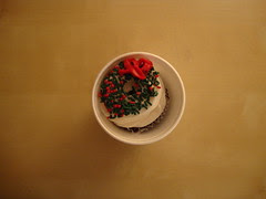 Wreath cupcake from House of Cupcakes