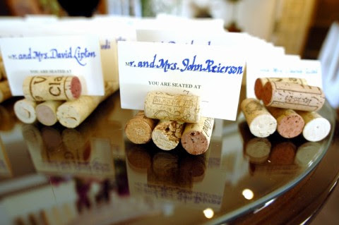Re wine cork place card holders I made these for our wedding and they came