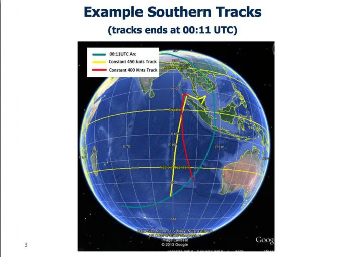 MH370 tracks