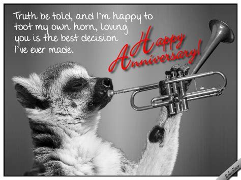 Toot My Horn. Free Happy Anniversary eCards, Greeting