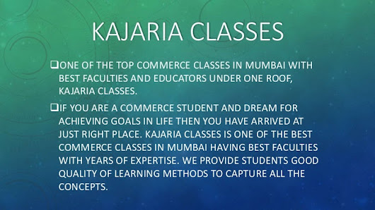 One of the top commerce classes in mumbai with best faculties and edu…