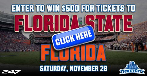 Enter to win $500 for Tickets to Florida vs Florida State!