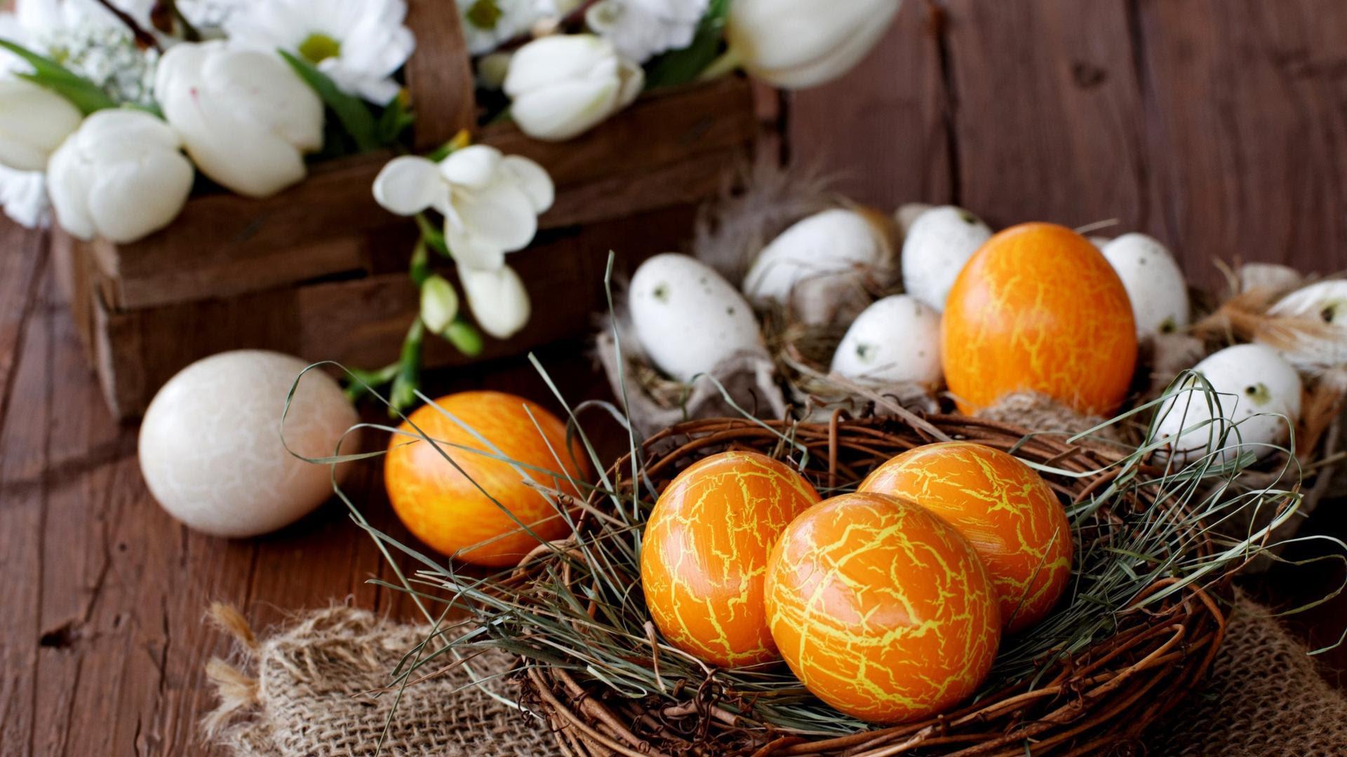 Wallpaper Download 1920x1080 Orange Easter eggs - HD ...