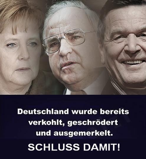 Deutsche fordern SCHLUSS mit der Scheinregiererei