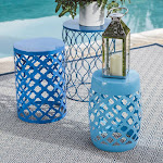 Outdoor Coral Coast Ellery Round Metal Patio Side Tables - Set of 3