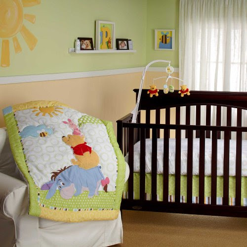 Playful Pooh 4 Piece Baby Crib Bedding Set With Per By Disney Winnie