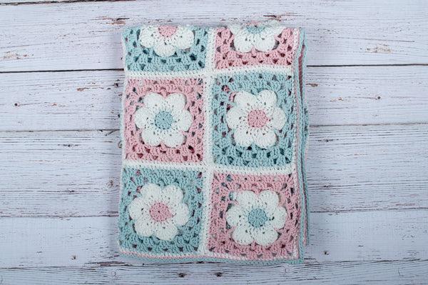 Crochet Flower Motif Blanket Download the Free Crochet Pattern