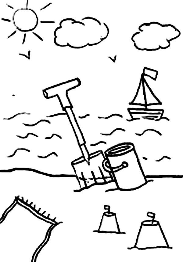 Simple Beach Drawing at GetDrawings | Free download