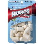 Hearos Softstar NexGen Series Ear Plugs, 14 Pair, White
